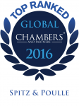 Chambers Global 2016 - Top ranked Leading firm SP